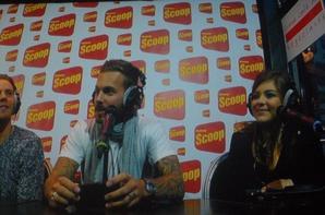 M Pokora & Caroline Costa au café des négocients Radio Scoop Lyon
