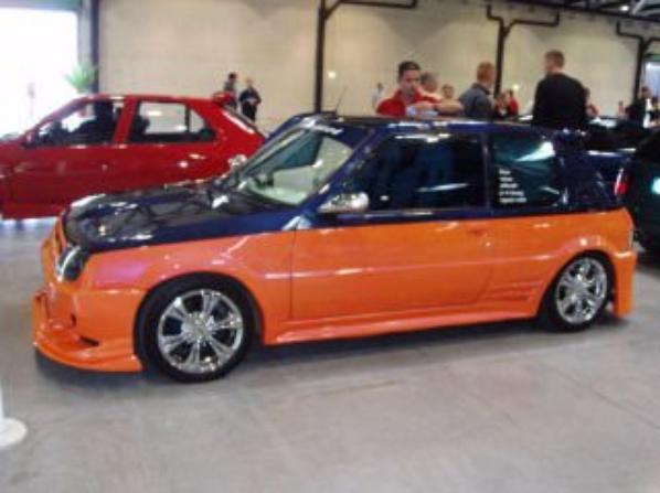 orange/violet