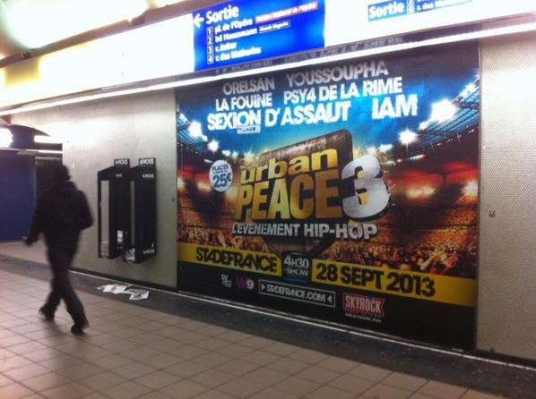 URBAN PEACE 3 - S'affiche dans Paris !
