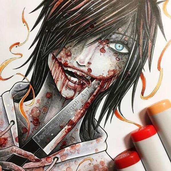 Laughing Jack <3 et Jeff The Killer !! J'adore ces dessins !