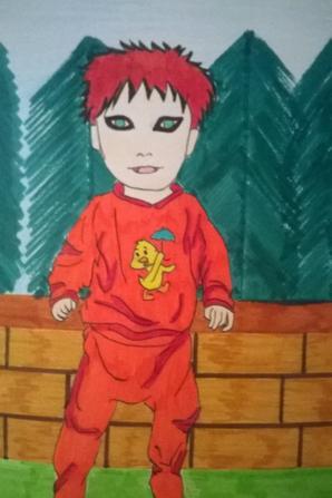 Nouveau dessin  shikamaru gaara kiba naruto baby *-*