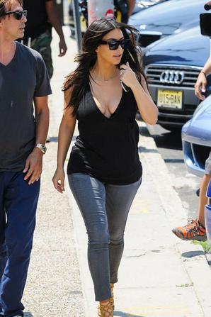 09.07 - Kim Kardashian au parc d'attraction Seaside Heights