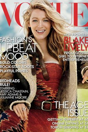Blake Lively pose pour Vogue Magazine - Aout 2014