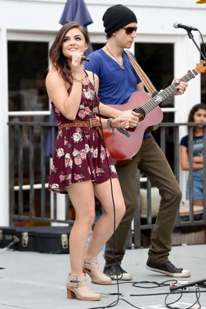 03.08 - Lucy Hale @ Performance at the Hollister House