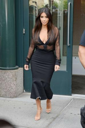 12.08 - Kim Kardashian se rend à un déjeuner, New-York