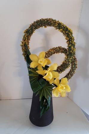 compositions du 8 et 9 février au cours de fleur'art à l'abadie