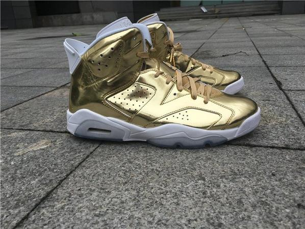 "Jordan 6 Pinnacle ""Metallic Gold"""