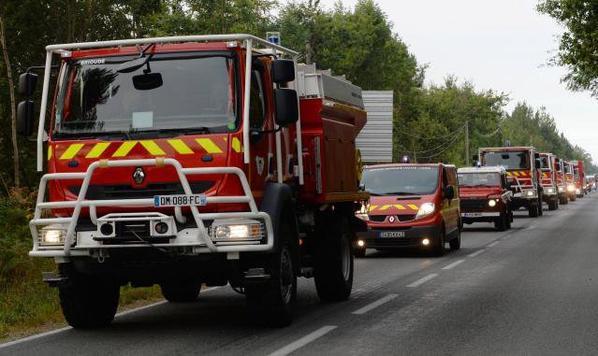 Incendie en Gironde. EN IMAGES. 4e journée de lutte contre le feu ( Ouest France )