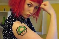 tatouage insolite: Nintendo