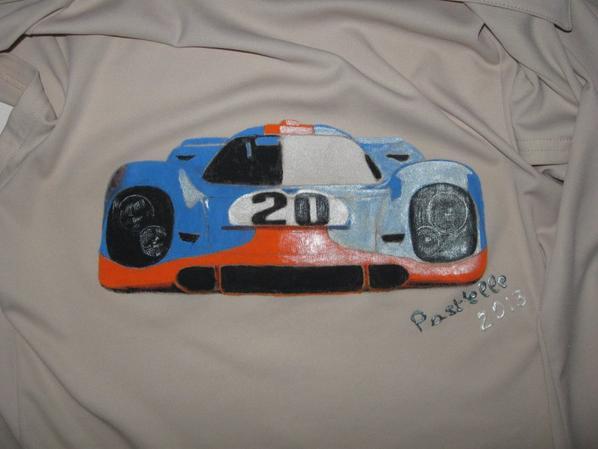 porsche 917:peinture sur tissus