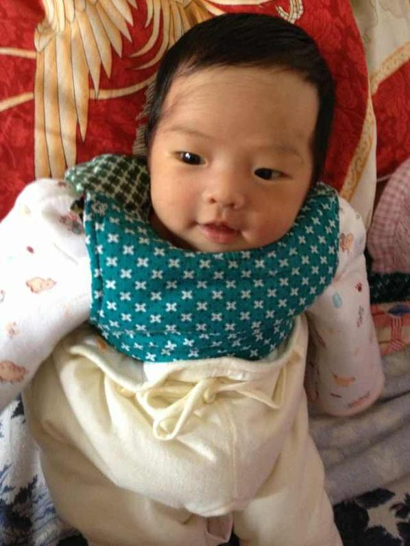 My Cousin of 1 month old is cute and beautiful.Grow Happily and healthily