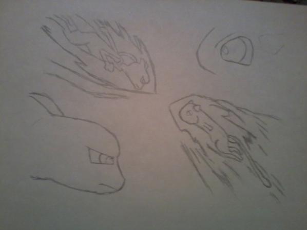 dessin rapide mew et mewtwo en 4 etapes