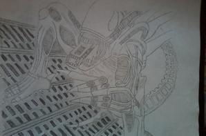 xénomorphe alien en 6 etapes