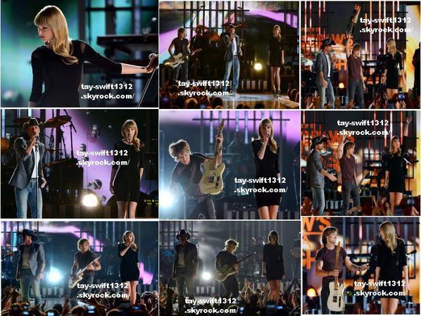 08.04.13 Au concert Tim McGraw's Summer Night qui donne les bénéfices à ACM Lifting Lives où elle a chantée Highway Don't Care avec celui-ci et Keith Urban