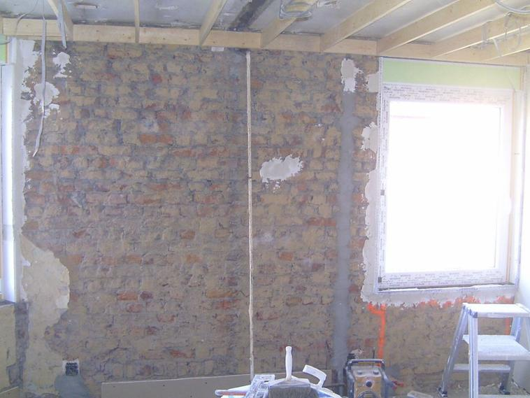 plafonnages sur vieux murs