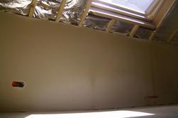plafonnages sur cloison est vieux murs