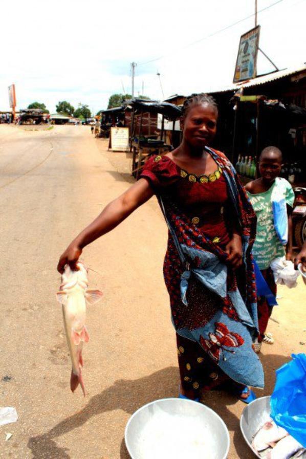 Marché au poisson dans l'ouest de côte d'ivoire,merci Yoro
