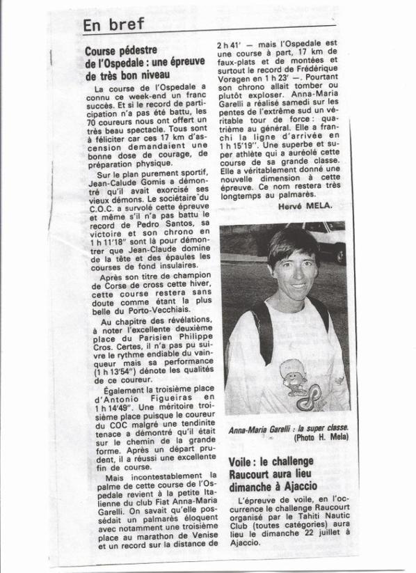 Montée pédestre de l'Ospédale 1990
