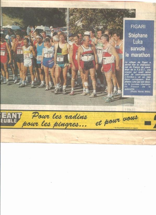 Championnat de France F.S.G.T de semi et marathon à FIGARI