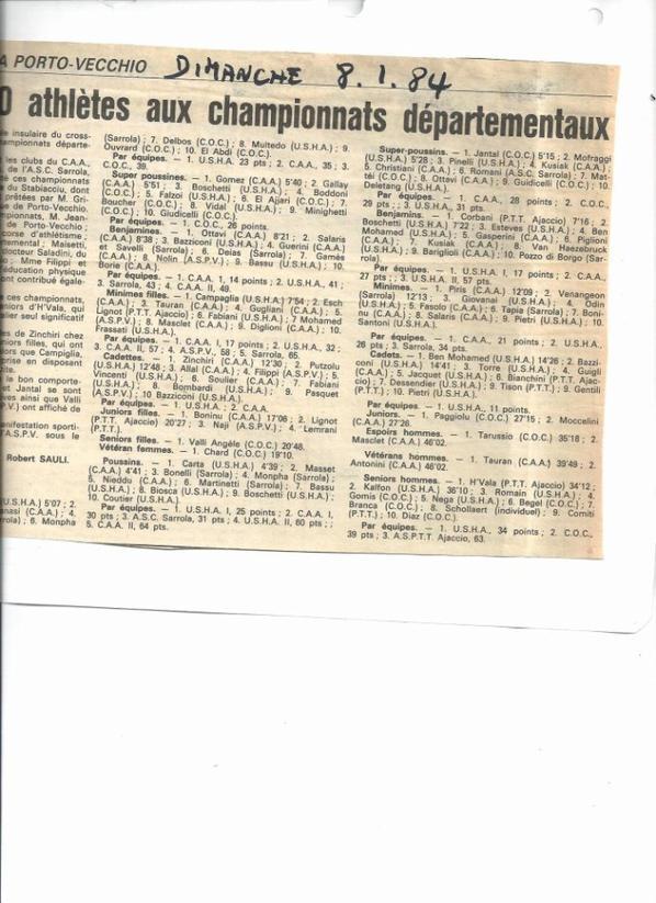 Départementaux de Corse du sud 1984