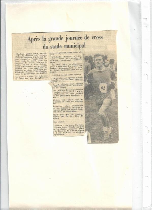 Le cross-country gardois des années 70-80 ces photos et résultats datent de 1973