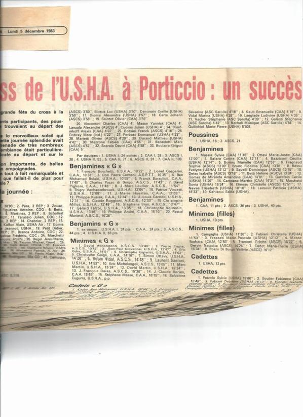Le Cross de l'USHA 1983