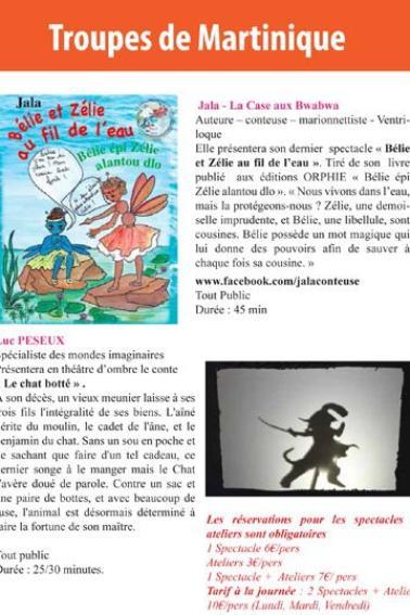 6e festival de marionnettes en Martinique