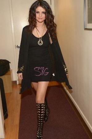 Le 24/04, Selena dans les BackStages du Late Show avec David Letterman !