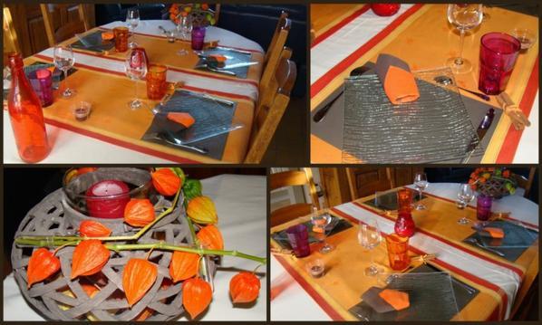 table pour un repas tajine