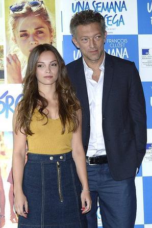 Lola Le Lann et Vincent Cassel assistent à un photocall pour 'Un moment d'Egarement' (Una Semana En Corcega) à l'Instituto Frances le 5 Septembre, 2015 à Madrid.