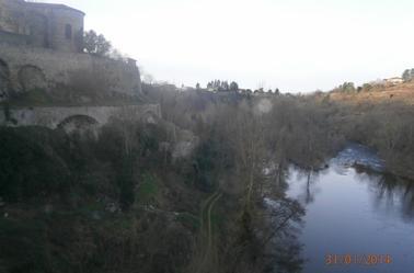 Vieille Brioude, vue du Pont à 5 minutes à pied du gite