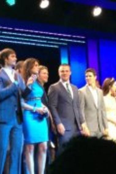 Ian et Nina à l'événement CW