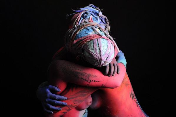 Abstract Bodypainting