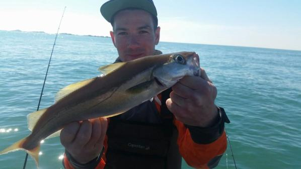 pêche au lieu en verticale