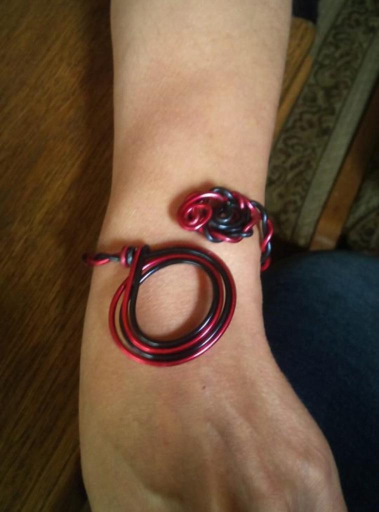 Bague et bracelet en Fil aluminium