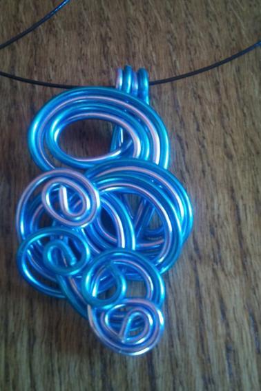 Pendentifs en Fil aluminium