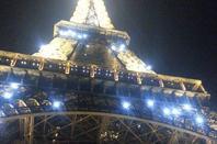 Vitrines Noel Galeries Lafayette-Printemps  et tour Eiffel