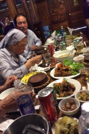 Repas offert par le comité des pauvres