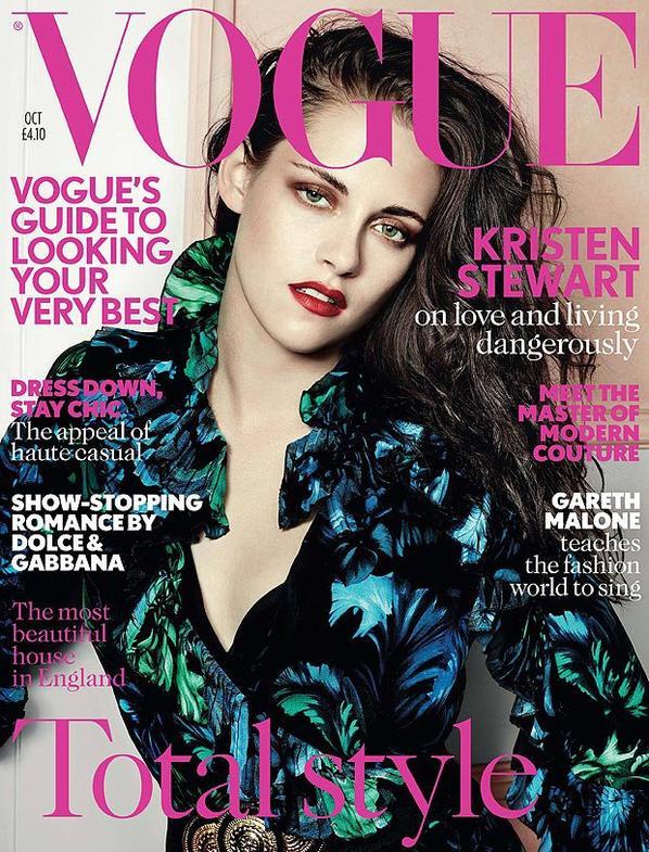 Kristen pose pour le magazine Vogue UK