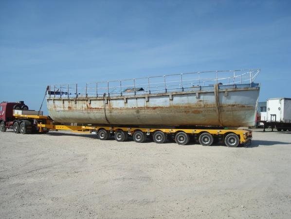 Transport d'un bateau