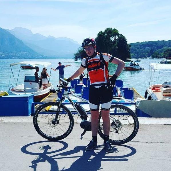 tour du lac d'Annecy avec mon vtt