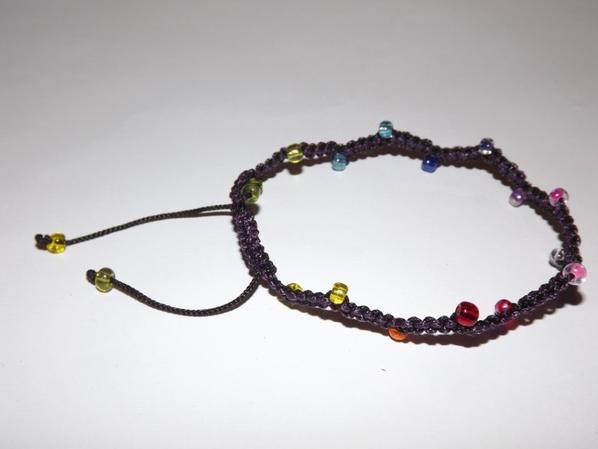 Bracelet macramé bicolore
