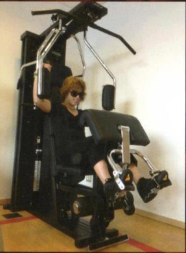 Kamijo a la salle de sport