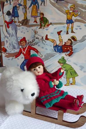 Lolotte (Loulotte Bravot) à la neige