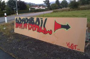 Premier graff' sur mur !!
