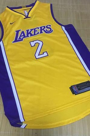 Nike NBA Los Angeles Lakers #2 Lonzo Ball Yellow Authentic Stitched Jersey Sale on http://www.jerseyshopcn.ru