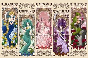 Illustrations Princesses Sailor Moon Crystal