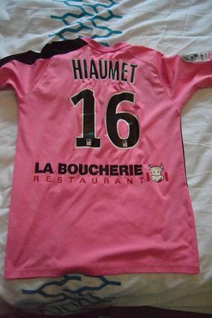 Maillot préparé pour HIAUMET saison 2011-12