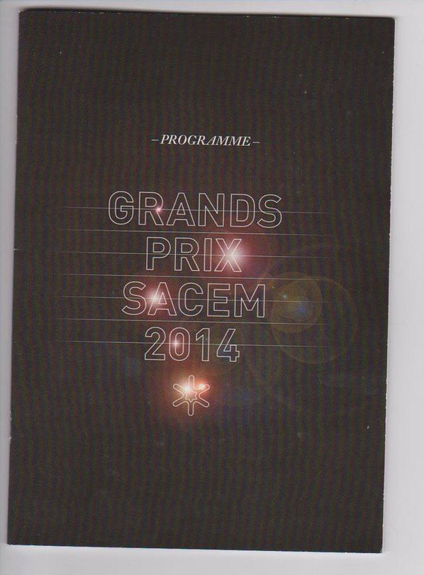 PROGRAMME GRAND PRIX DE LA SACEM 2014