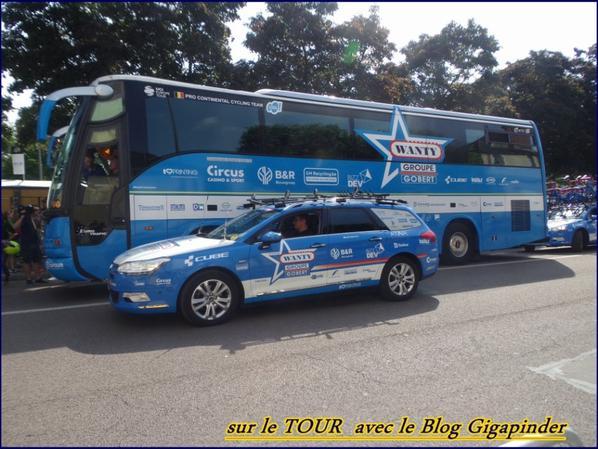 SUR LE TOUR  A TROYES ..BMC ET WANTY